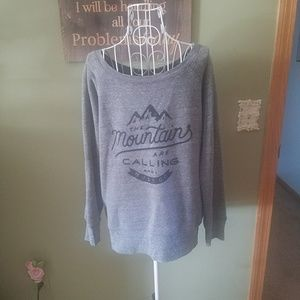 Mountains are calling and I must go sweatshirt